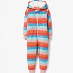 Gymboree Striped One Piece Pajama With Hood NWT